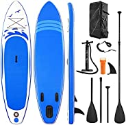 Paddle Board Inflatable SUP W Stand-up Paddle Board Accessories Backpack Paddle Leash Pump Non-Slip Deck ISUP