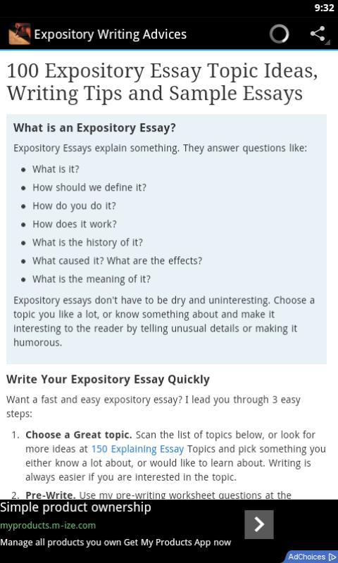 Amazon.com: Expository Writing Skills: Appstore for Android