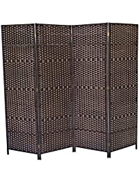 Urnporium Woven 4 Panel Room Divider