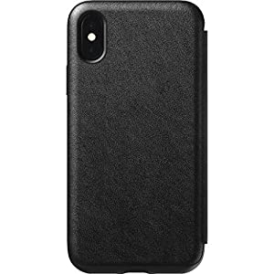 Nomad Folio Tri-Fold Leather Case for iPhone Xs | Black