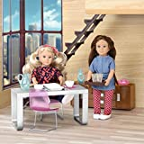 Our Generation Lori Dollhouse - MODERNA Dining Set - Fashionable and Fun Furniture for 6 inch Dolls - 22 PCS