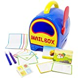 Boley Toy Mailbox For Kids - Educational Toy Mailbox with Letters, Postcards and Stamp Sheets - Perfect Play Set for Hours of Pretend Play Fun!