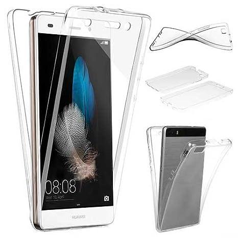 XCYYOO Funda Huawei P8 Lite Silicona,Carcasas Huawei P8 Lite, [Carcasa Protectora 360 Grados Full Body]e Suave Ultrafina Gel Silicona TPU Anti-Choque ...