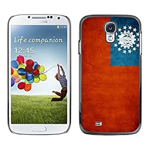Shell-Star ( National Flag Series-Myanmar ) Snap On Hard Protective Case For Samsung Galaxy S4 IV (I9500 / I9505 / I9505G) / SGH-i337