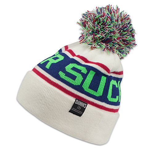 DJINNS white Winter Beanie Bubble neon green Removable xxZqa4UO