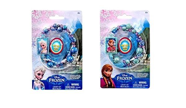 Disney Frozen Elsa Light Up Bead Bracelet Flashes in Rainbow Colors!