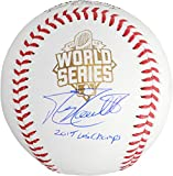 Mike Moustakas Kansas City Royals 2015 MLB World Series Champions Autographed World Series Baseball with 15 WS Champs Inscription - Fanatics Authentic Certified