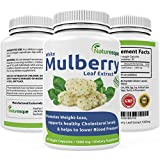 #1 White Mulberry Leaf Extract | 1000mg | Low Blood Sugar | Rich in Antioxidants & Fiber Helps in Weight Loss | 60 Veggie Capsules Pills Natural Finest Quality Non GMO Premium Supplement By Natureque