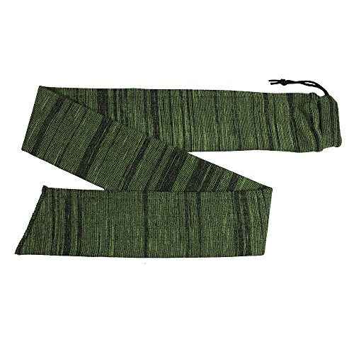 PSKOOK Tactical Gun Sock Silicone-Treated Knit Long Scok Case Sleeve Outdoor Hunting Rifle/Shotguns Sack Storage 53 Inch (Green)