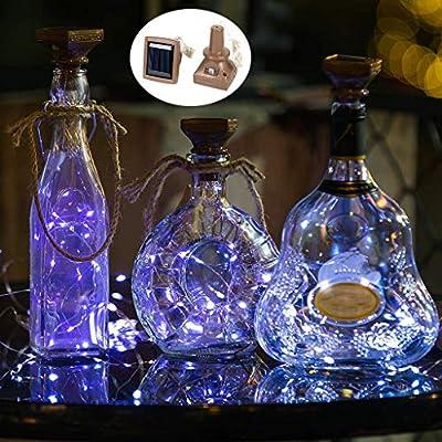 Wokee_ Luces de Corcho de Botella de Vino, luz LED en Forma ...