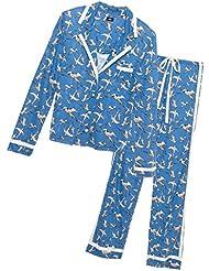 Cosabella Womens Bella Long-Sleeve Top and Pant Pajama Set