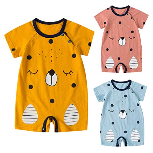 Sameno 2019 NewbornBaby Boy Kids Girls Cartoon Infant Summer Rompers Outfits Clothes