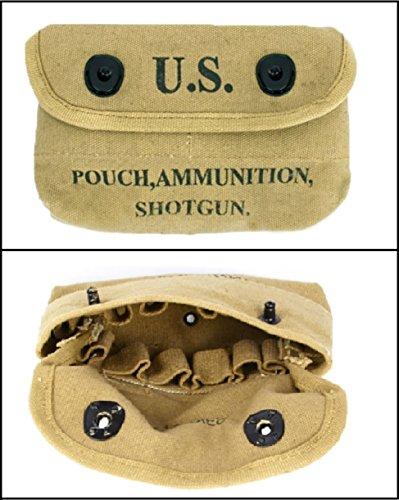 Ultimate Arms Gear Tactical Militaria U S  Army Military GI USGI WW2 WWII  1943 Reproduction Khaki Tan Canvas 12 Loop Shotun Shotshell Shot Shell 12