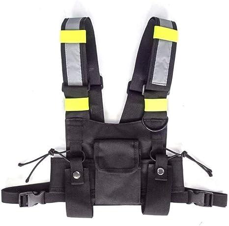 QQOPI Fashion Chest Rig Bag Arnés Táctico Front Pack Pouch Funcional Chest Bags, Negro: Amazon.es: Deportes y aire libre
