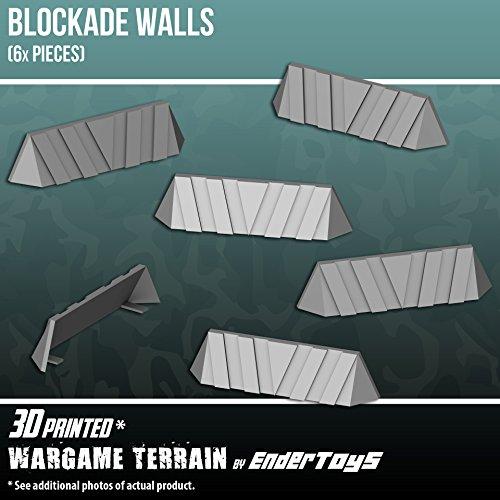 Blockade Walls, Terrain Scenery for Tabletop 28mm Miniatures - Import It All