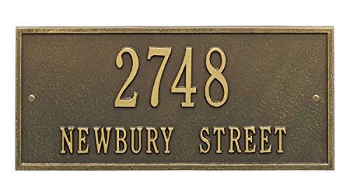 Black Pewter Address Number - Personalized Cast Metal Address plaque - The Hartford. Display your address and street name. Custom house numbers - Comfort House # P2313x2l