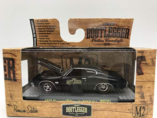 M2 Machines Bootlegger 1970 Chevrolet Chevelle SS 454 1:64 Scale WMTS01 15-23 Black Details Like NO Other! Over 42 Parts
