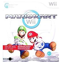 Mario Kart Wii with Wii Wheel Black (Refurbished)