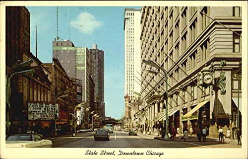 State Street, Downtown Chicago Chicago, Illinois Original Vintage ()