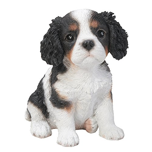 Pacific Giftware Adorable Seated King Charles Spaniel Puppy Collectible Figurine Amazing Dog Likeness Hand Painted Resin 6.5 inch Figurine Great for Dog Lovers Tabletop Decor