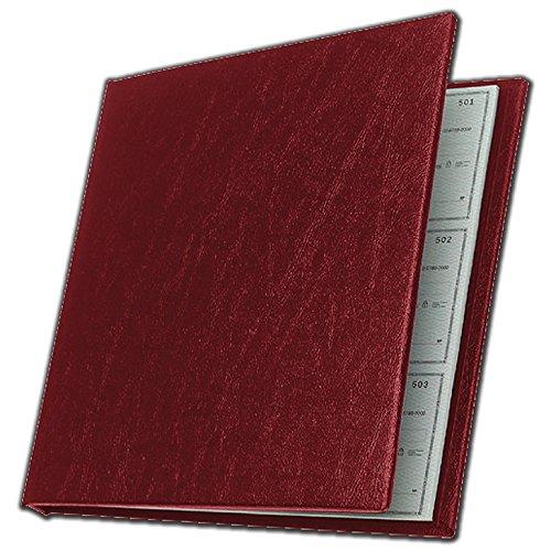 Executive Deskbook Check Cover (Burgundy) - Executive Checkbook Cover