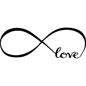 Amazon Love Infinity Symbol Bedroom Wall Decal Sticker Art