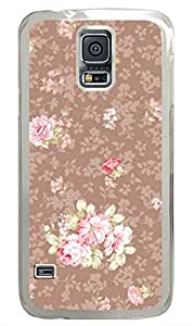 Retro Brown Pattern PC Transparent Hard Case Cover Skin For Samsung Galaxy S5 I9600