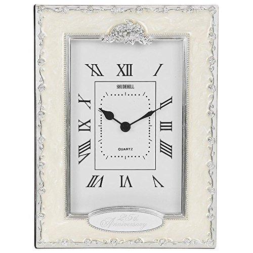 Clocks – 25th Anniversay Silver Wedding Celebration Quartz Table Clock