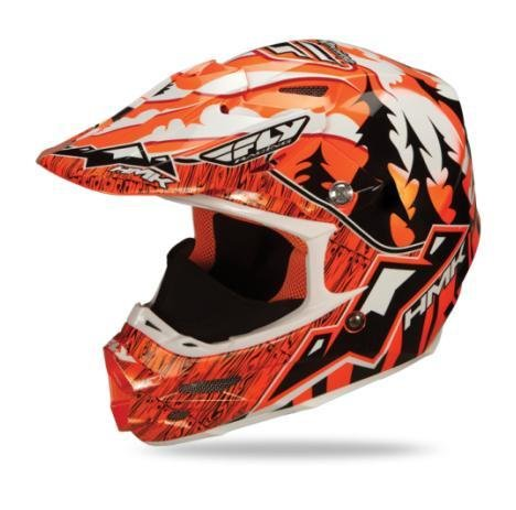 F2 Visor (HMK Visor for Fly Racing F2 Carbon Pro Helmet - Orange)