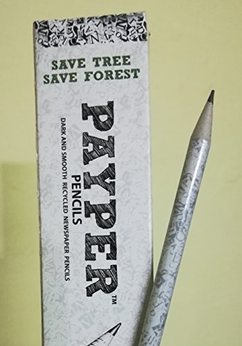 (i-Fork Payper Pencil - Made From Recycled Newspaper - 10 Pencils - Free Sharpener)