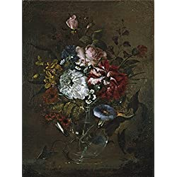 Oil Painting 'Romero Juan Bautista Florero De Cristal Con Rosas Y Campanillas End Of 18 Century Early 19 Century ' Printing On Perfect Effect Canvas , 20 X 27 Inch / 51 X 68 Cm ,the Best Powder Room Gallery Art And Home Artwork And Gifts Is This Replica