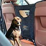 Pet Net Barrier,Petbob Dog Car Barrier Seat Mesh Obstacle,Oxford Cloth Dog Backseat Barrier Adjustable Divider to Keep Driver Safety, Easy to Install for Car,SUV,Truck,Minivan(Black)
