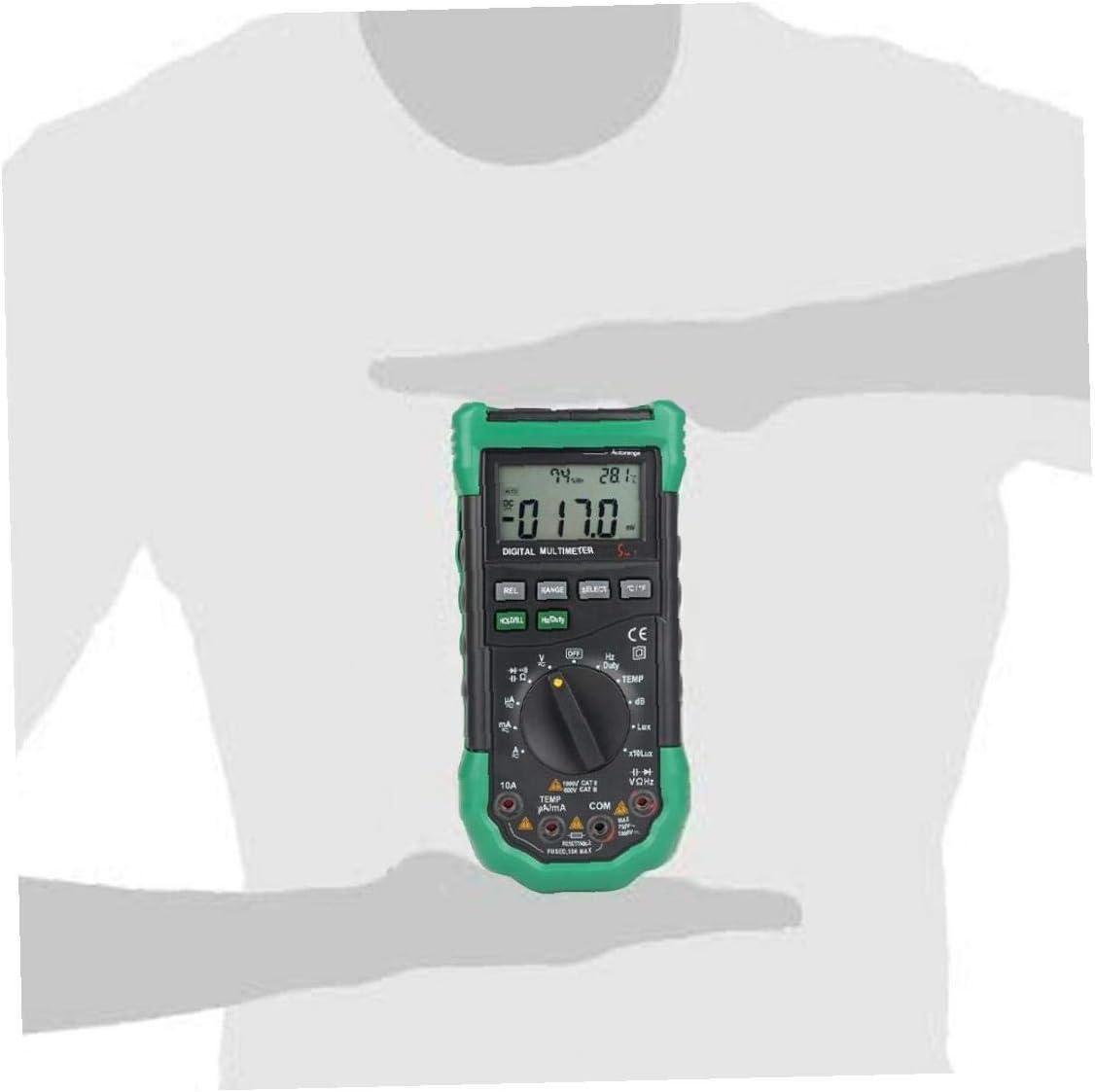 Digital Multimeter Tester Multimeter Continuity Tester Multi Tester Electrical Ms8229 Digital Multimeter for Electrician Green