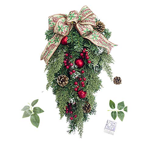 Christmas Swags, Alonea Xmas Tree Pineal Fruit Cane Hanging Ornament Decoration Christmas Party Decor for Home Christmas Holiday (B❤️) ()