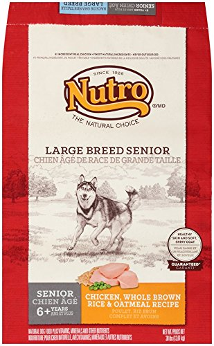 Cheap NUTRO NATURAL CHOICE Large Breed Senior Dog Food Chicken, Whole Brown Rice & Oatmeal Recipe 30 lbs.
