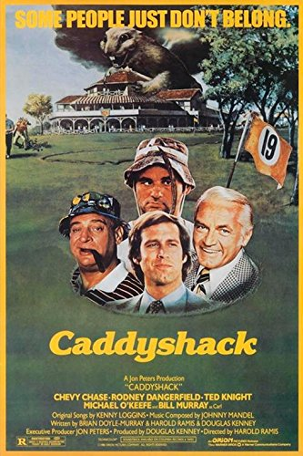 Caddyshack 1980 36x24 Movie Art Print Poster Comedy Classic Chevy Chase Rodney Dangerfield Ted Knight Michael O'Keefe Bill ()