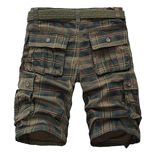 Casual Colori Pantaloncini 2 Corto Abbigliamento Festivo Outdoor 1 Reticolo Estate Stile Pantaloni Mimetici Multitasche 6 Uomo Cargo Lavoro Taglia wSpSqZt