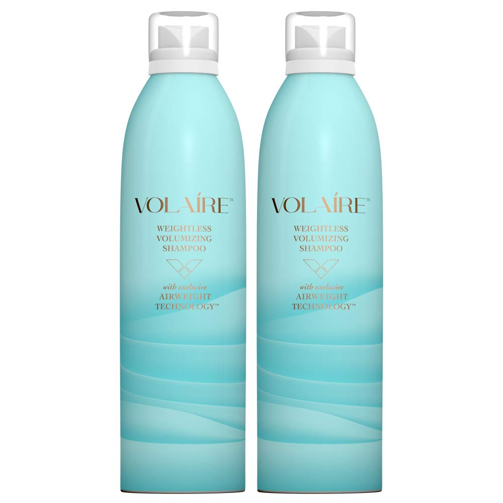 Volaire - Weightless Volumizing Shampoo - Everyday Effortless Volume, Sulfate Free | Paraben Free | Colored Treated Hair Safe - Duo Pack/10.5 Ounces Each by Volaire
