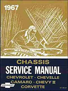 1967 chevy repair shop manual reprint impala ss caprice chevelle rh amazon com 1968 Impala 1967 chevy impala repair manual