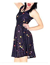 Womens Sexy Skater Pleated Dresses Cute Prom Skirts Sundress For Homecoming Party M-3XL