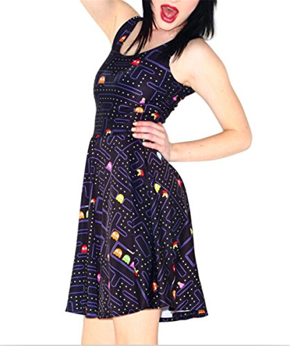Women's Pac-Man Skater Dress - M to 3XL