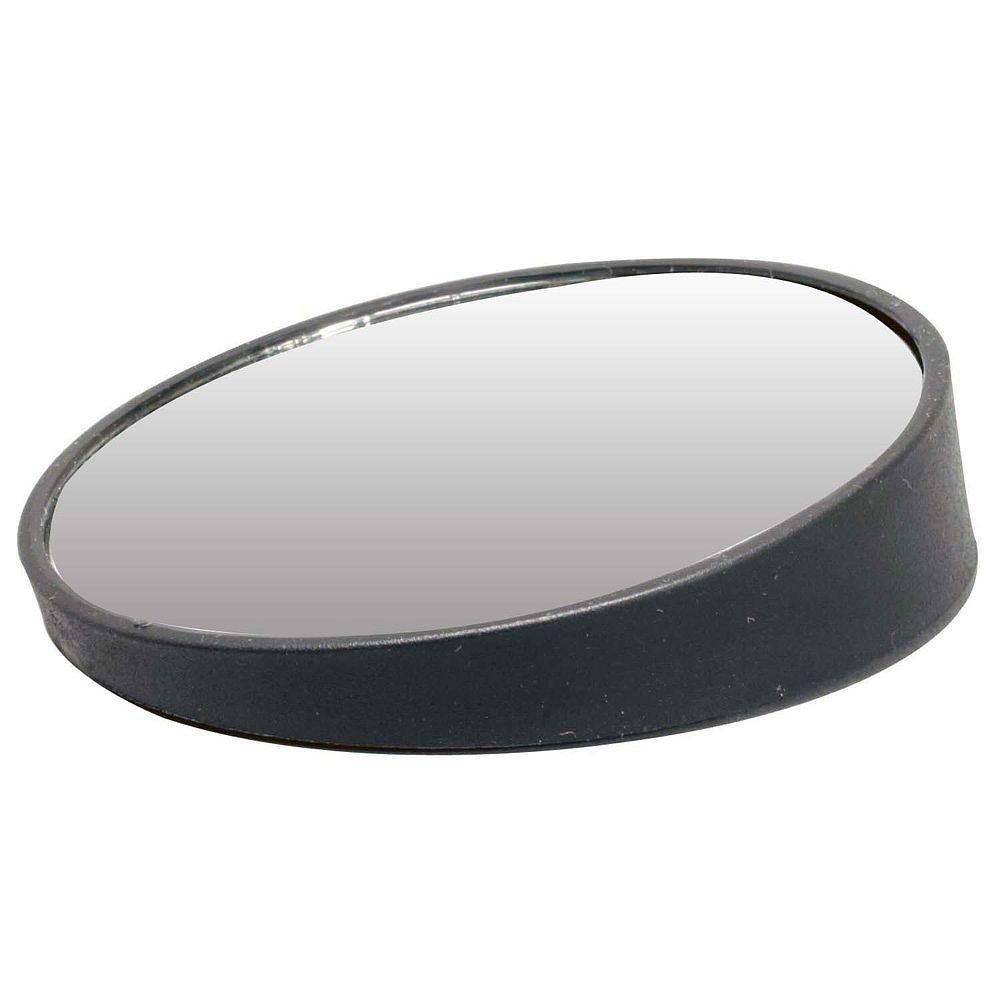 Pilot Automotive MI-010 Black Universal Adjustable Blind Spot 3-3/4' Mirror, (Non-Carb Compliant)