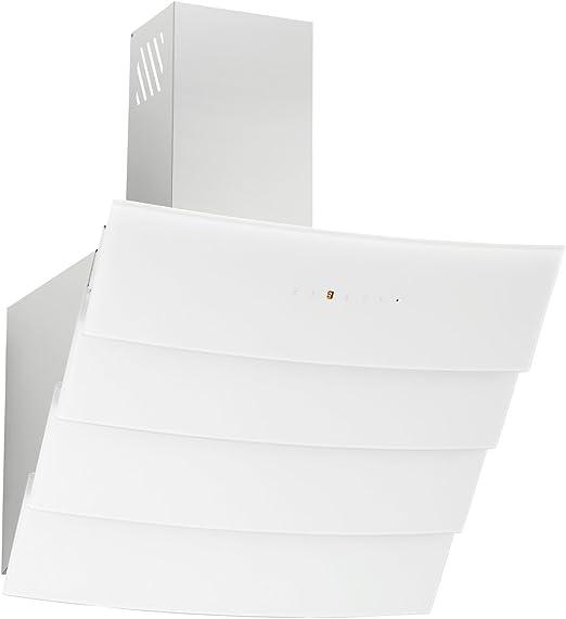 Campana extractora libre de cabeza Rosalia Blanco Cristal Acero Inoxidable Chimenea 60 cm: Amazon.es: Grandes electrodomésticos