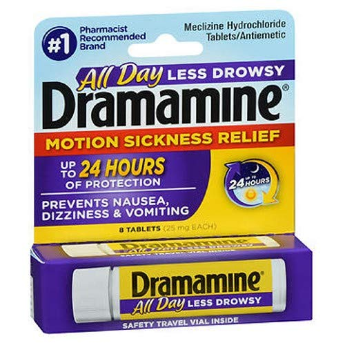 Dramamine All Day Less Drwsy Tab Size 8 Ct Dramamine Less Drwsy ()
