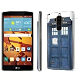 LG G Stylo [LS770 H631 MS631] / LG G4 Note Stylus Case, [NakedShield] [Clear] Ultra-Slim Jacket Cover Case - [Blue Phone Box] for LG G Stylo [LS770 H631 MS631] / LG G4 Note Stylus -  NakedShield for LG G Stylo