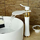 OLSUS Contemporary Brass White Spray Paint Single Handle One-Hole with Ceramic Valve, Bathroom Sink Faucet (North America)