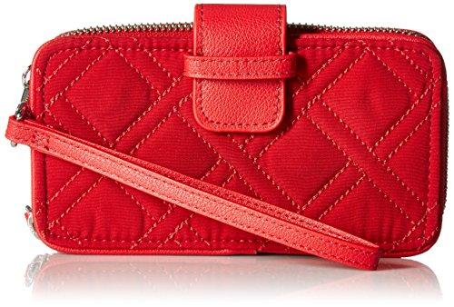 Vera Bradley Rfid Smartphone Wristlet Vera, Cardinal (Cardinals Quilted Purse)
