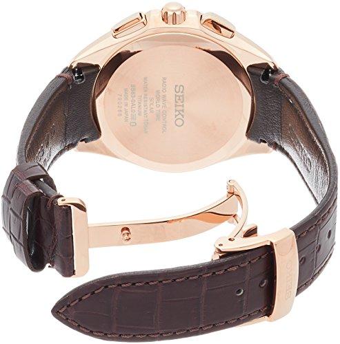 SEIKO-Watch-BRIGHTZ-SAGA252-Solar-Radio-Watch-Dual-Time-Titanium-Model-Brown-Leather-Band-Mens