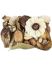 Potpourri Glamour - Set de decoración de flores y elementos decorativos en tonos naturales (350 g)