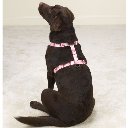 Guardian Gear Nylon Camo Dog Harness, 28 to 36-Inch, Pink (75 Guardian Gear Camo)
